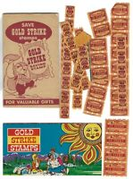 GOLD STRIKE Savings Stamps Booklet with 2 Full Pages and Empty Folder + Stamps