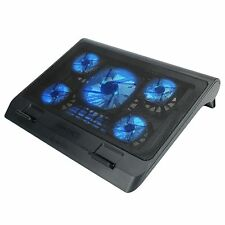 Laptop Cooling Stand with 5 LED Cooling Fans & Dual USB Charging Ports