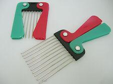 Folding Handle Afro Metal Pik Hair Styling Comb - Detangle - Style - Lift