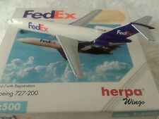 1:500 herpa wings Fedex 727
