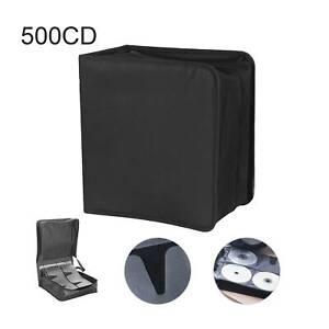 500 Sleeve CD/DVD Blu Ray Disc Carry Case Holder Bag Wallet Storage Ring Binder