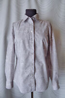 🔻Boden Grey Cotton Floral Blouse Shirt   Size UK 14