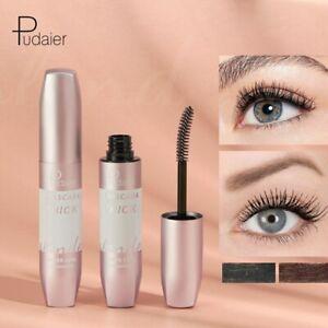 Pudaier 3D Curl Mascara Volume Waterproof Lash Extensions Makeup Silk Graft