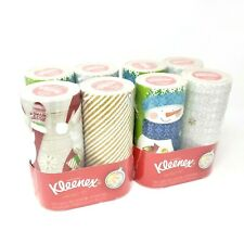 Kleenex Perfect Fit Tissues - 8 Pack - (4 packs of 2 Canisters) Holiday