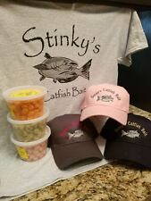 STINKY'S CATFISH BAIT,HAT,TEE-SHIRT COMBO WITH BONUS DECAL