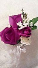 1 Custom Handmade corsages purple wedding party bride groom prom gift shower