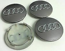 4pz tappi Coprimozzo silver 68mm per Audi  A1 A3 A4 A5 A6 Q5 TT RS4 Q5 Q7 S4
