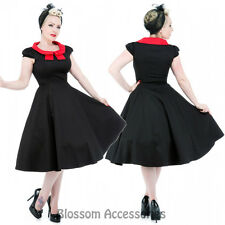 RKH61 Hearts and Roses H&R Red Rockabilly Formal Evening Dress 50s Retro Plus