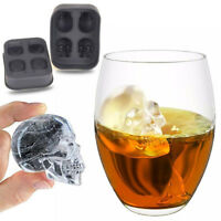 Halloween Silicone 3D Ice Cube Tray Skull Mold Chocolate Baking Tool Drinking