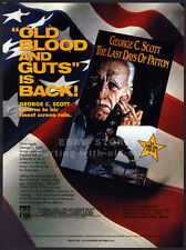 THE LAST DAYS OF PATTON__Orig. 1990 Trade print AD movie promo__GEORGE C. SCOTT