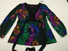 Monsoon Polyester V-Neck Floral Tops & Shirts for Women