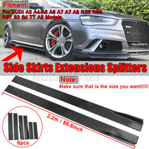 86.6'' Gloss Side Skirts Extension Splitter For AUDI A5 A6 A7 A8 RS5 RS6 S3 TT