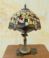 Tiffany Tischlampe Dragonfly Libelle Frauenfigur Figur Tiffanylampe Lampe TE20-a