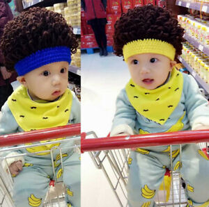 Handmade Wool Afro Children's Wig Funny Kids Wig Hat Cosplay Wool Cap