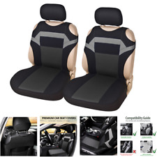 Car Seat Covers T-shirt design Polyester Fabric Protector Dust Proof (Set of 2)