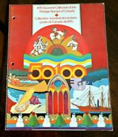 CatalinaStamps: Canada 1975 Souvenir Collection w/35 MNH Stamps, Lot G