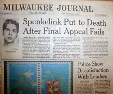 1979 hdln newspaper JOHN SPENKELINK EXECUTED for MURDER - Florida ELECTRIC CHAIR
