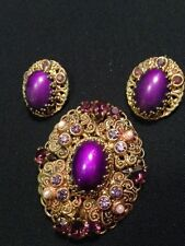 Antique Brooch and earrings from Germany late 1930's or early 1940's