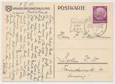 Schiffspostbeleg Deutsches Reich, HAMBURG-NEW YORK, Deutschland H.A.L.  (52183)