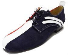 Delicious Junction Original Badger Red White and Bue Mod Shoes
