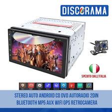 STEREO AUTO ANDROID CD DVD AUTORADIO 2DIN BLUETOOTH MP5 AUX WIFI GPS RETROCAMERA