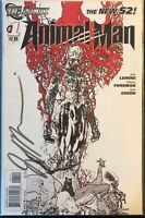 ANIMAL MAN #1 New 52 Sketch B&W Variant DC 2011 SIGNED BY JEFF LEMIRE