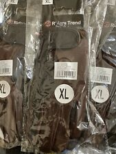 Women's Riders Trend Equestrian Gloves Air/mesh Leather Brown Size XL