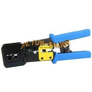 RJ45 Crimper RJ12 Cat5 Cat6 8p8c Cable Stripper Pressing Clamp Network Tools