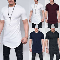 Fashion Men's Slim Fit O Neck Short Sleeve Muscle Tee T-shirt Casual Tops Blouse