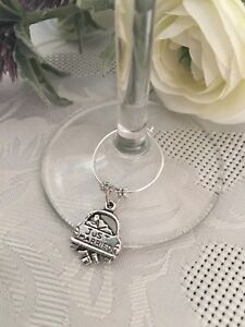 Just Married Wedding Glass Charm ... Great Forvthe Topbtable, Wedding Party