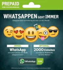 WhatsApp Sim Prepaidkarte 15 ? Guthaben (NEU Option 4000 MB) Simkarte