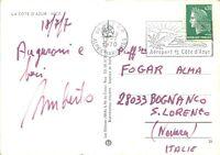 Autografo di Umberto Fogar (fratello di Ambrogio) su cartolina per la madre