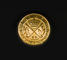 Org Ralph Lauren gold color Crown Logo metal logo Replacement Sleeve button .60""