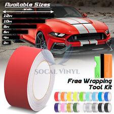 Matte Color Racing Stripes Vinyl Wrap Sticker For Ford Mustang Stripe 25FT /50FT