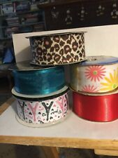 5 Rolls Of Ribbon 3 Boutique & 2 Other's 1.5�