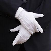 1 Paar Weiß Formelle Handschuhe für Smoking Ehre Wache Parade Inspektion Samme