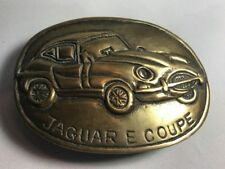 Jaguar E Coupe Brass Belt Buckle