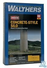 Concrete-style Silo HO Structure Kit - Walthers Cornerstone #933-3332 vmf121