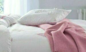 $110 New Yves Delorme Etrerose White Pink Flowers Tulle Sham Case 12x17 Cotton
