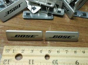One pair (2 pieces) GENUINE BOSE Aluminum Speaker Emblem Logo