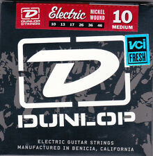 Set of Dunlop Nickel Wound Medium 10 Electric Guitar Strings New