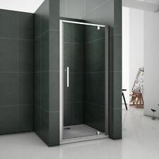 Aica 1000x1850mm Chrome Pivot Shower Door Enclosure Safety Glass Screen PRG