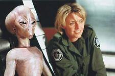 Amanda Tapping Sitting Next To Alien Stargate Sg1 11x17 Mini Poster