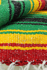 11 Yogi Yoga Premium Mexican Bed Blanket Mexico Bright Striped Serape Rasta New