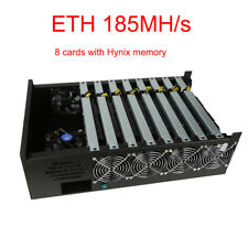 Bitcoin Mining Ethereum Miner Rig Litecoin Hash Rate ETH 185MH/s 8 NP106 Cards