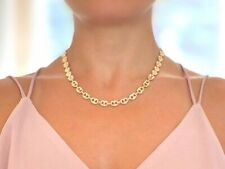 Gucci Chain Puff Anchor Marina 18k Yellow Gold Filled Necklace