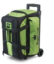 Brunswick Blitz 2 Ball Roller Bowling Bag Color Green
