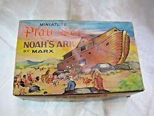 MARX NOAH'S ARK MINIATURE PLAY SET COMPLETE WITH BOX EXCELLENT VINTAGE CONDITION