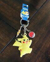 Official Nintendo Pokémon Pokemon Go Pikachu Pokeball Keychain Stocking Stuffer