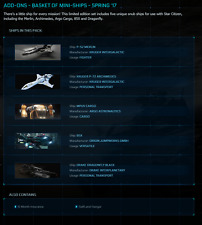 Star Citizen Standalone Ships -BASKET OF MINI-SHIPS (P52,P72,MPUV,85X&Dragonfly)